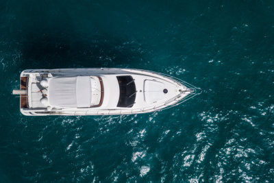 Yacht from above